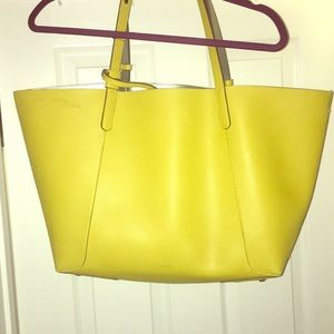 Zara reversible yellow and Silver Tote